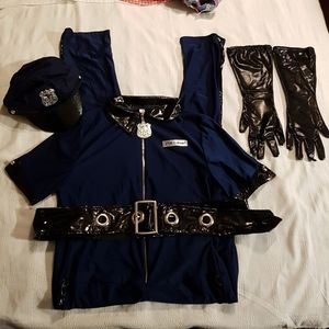 Adult Police jumpsuit Costume Adult XL fits small